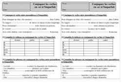 Verbes en er - Imparfait – Ce1 – Exercices avec correction