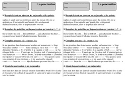 Ponctuation - Ce1 - Exercices à imprimer