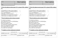Situer la phrase – Ce1 – Exercices à imprimer