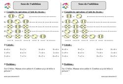 Sens de l'addition - Ce1 - Exercices à imprimer