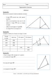 Trigonométrie – Exercices – 3ème – Brevet des collèges
