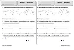 Droites - Segments – Ce1 – Exercices à imprimer
