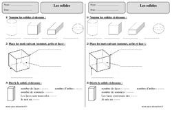 Solides - Ce1 - Exercices à imprimer