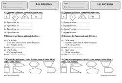 Polygones – Ce1 – Exercices
