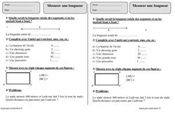 Mesurer une longueur cm, m, km – Ce1 – Exercices avec correction