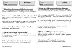 Problèmes – Ce1 – Exercices à imprimer