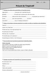 Impératif présent - Cm2 - Exercices à imprimer
