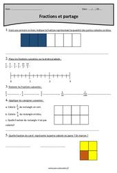 Fractions et partage - Cm1 - Exercices corrigés