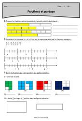 Partage et fractions - Cm1 - Révisions