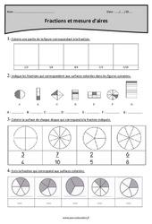 Fractions et mesure d'aires - Cm1 - Exercices corrigés