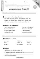 Graphèmes du son [o] – CE2 – Evaluation – Bilan