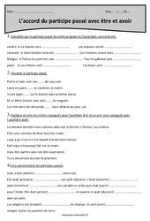 Participe passé avec être et avoir - Accord – Cm1 – Exercices à imprimer