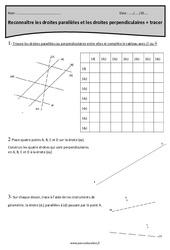 Tracer et reconnaître les droites parallèles et perpendiculaires – Cm1 – Révisions
