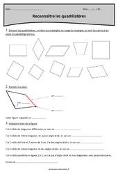 Carré, rectangle, parallélogramme et losange - Quadrilatères - Cm1 - Exercices à imprimer