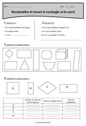 Rectangle et carré – Reconnaître et tracer – Cm1 – Révisions