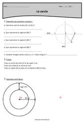 Cercle – Cm1 – Révisions