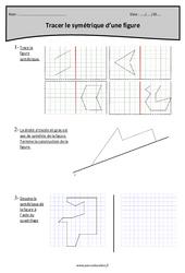 Tracer le symétrique d'une figure – Cm1 – Exercices à imprimer