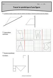 Symétrique d'une figure – Tracer – Cm1 – Exercices avec correction