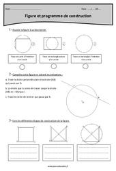 Figure et programme de construction – Cm1 – Exercices corrigés