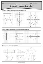 Reconnaître les axes de symétrie – Cm1 – Exercices à imprimer