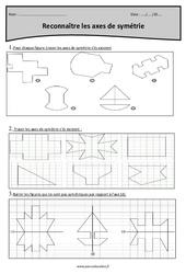 Axes de symétrie – Reconnaître – Cm1 – Exercices corrigés