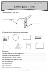 Identifier quelques solides - Cm1 - Exercices avec correction