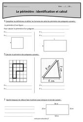 Périmètre – Identification et calcul – Cm1 – Exercices à imprimer