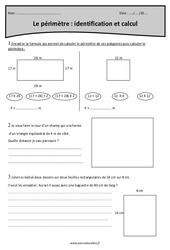 Identification et calcul du périmètre – Cm1 – Exercices corrigés