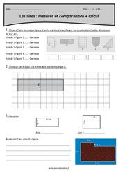 Aires – Comparaisons, calcul et mesures – Cm1 – Révisions
