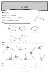 Angles – Aigus, obtus ou droits – Cm1 – Exercices à imprimer