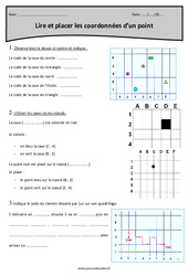 Coordonnées d'un point – Cm1 – Exercices à imprimer