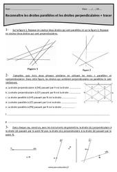 Droites parallèles et perpendiculaires - Cm2 - Exercices à imprimer