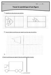 Tracer le symétrique d'une figure – Cm2 – Exercices avec correction