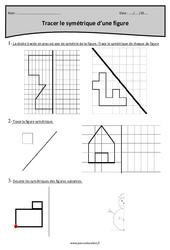 Symétrie d'une figure – Cm2 – Exercices à imprimer