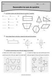 Reconnaître les axes de symétrie – Cm2 – Exercices corrigés