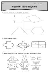 Axes de symétrie à reconnaître – Cm2 – Exercices avec correction
