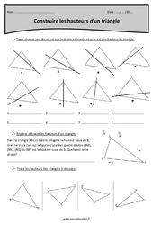 Construire les hauteurs d'un triangle – Cm2 – Exercices corrigés