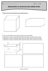 Polyèdres - Cm2 - Exercices sur les solides