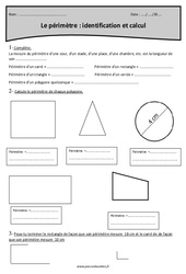 Périmètre – Identification et calcul – Cm2 – Exercices à imprimer