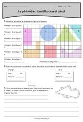 Identification et calcul du Périmètre – Cm2 – Exercices avec correction