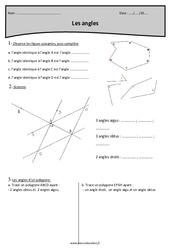 Aigus, obtus, droit ou plat – Cm2 – Exercices sur les angles