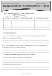 Proportionnalité en utilisant les échelles et les vitesses moyennes – Cm2 – Exercices