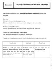 Propositions subordonnées circonstancielles de temps – 4ème – Cours