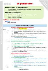 Périmètre – CM2 – Fiche de préparation