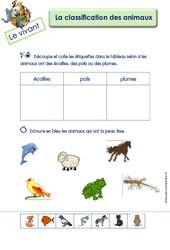 Classer les animaux - MS - GS - Le vivant