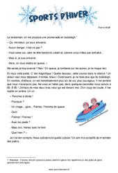 Sports d'hiver de Pierre Wolf – Cm2 – Récit – Lecture