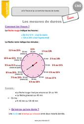 Mesures de durées – Cm2 – Leçon