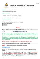 Présent des verbes du 2 ème groupe – Cm1 – Fiche de préparation