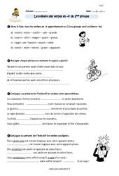 Présent des verbes du 2 ème groupe – Cm2 – Exercices à imprimer