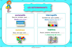 Déterminants – Cycle 3 – Affiche de classe